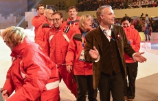 CGDC Managing Director Oliver Sodeik with Team Monaco at the Special Olympics Opening  Ceremony